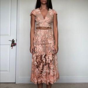 Dress the Population Pink Nude Sequin Set